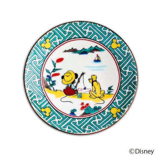 ミッキーマウス小皿 / 古九谷山水図