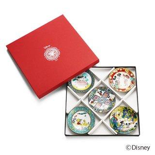 ミッキーマウス/ 小皿5点セット九谷画風