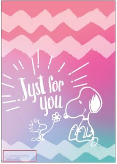 PEANUTS SNOOPY スヌーピー ラッピングバッグ JUST FOR YOU