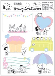 <img class='new_mark_img1' src='https://img.shop-pro.jp/img/new/icons6.gif' style='border:none;display:inline;margin:0px;padding:0px;width:auto;' />PEANUTS SNOOPY スヌーピー トレーシングデコ メッセージステッカー フレンズ 3枚入り