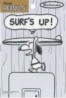 PEANUTS SNOOPY スヌーピー 貼って剥がせる スイッチステッカー サーフィン
