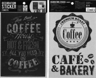 壁に貼って剥がせる ウォールステッカー コーヒーショップ