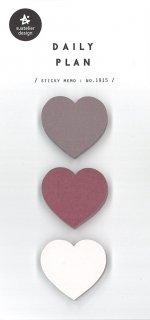 プランデコジャーナル用 付箋シール ハート型三色 各型50枚入り デイリープラン10