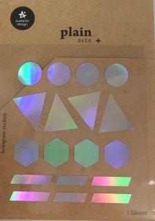 プランデコジャーナルで使える プレインデコ・マーキングステッカー マスキング・ホログラム図形 2枚入り プレイン25