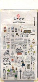 スアテリエ ミニステッカー モスクワの旅 モスコミュール MOSCOW MULE