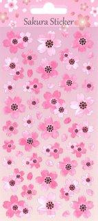 桜ミニステッカー 和紙にピンクの箔入り さくらピンク