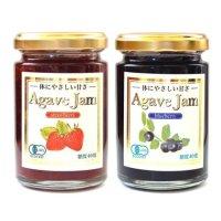ジャム 2種類から選べる 有機アガベジャムストロベリー140g 有機アガベジャムブルーベリー140g 果実を多く使用し果実感を大切にしています。果実の味、酸味と甘さを感じられる甘すぎないジャムです。