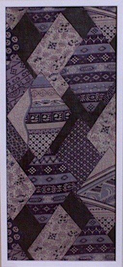 古布着物「菱形柄」ファブリックプレート(フレームセット)