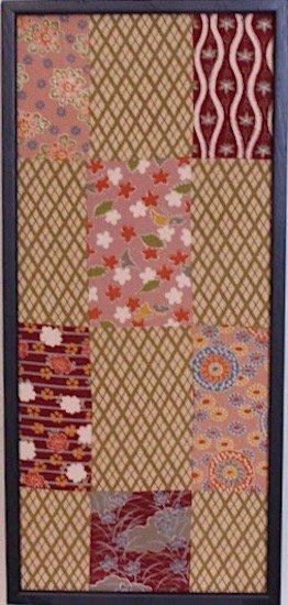 古布着物「秋模様」ファブリックプレート(フレームセット)