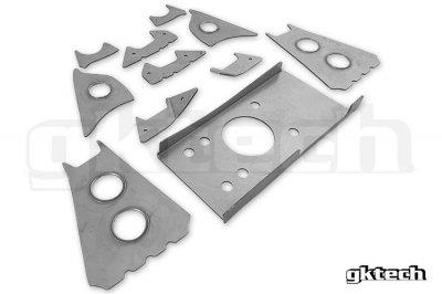 GK Tech リアメンバー溶接補強プレート S13/180sx/R32