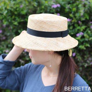 【5月中旬頃お届け予約販売】BERRETTA(ベルレッタ) マープルミディアムブリム 黒リボン 2サイズ(S、M) / バオ 箱付き