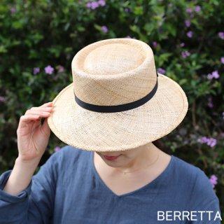 【5月中旬頃お届け予約販売】BERRETTA(ベルレッタ) マープルミディアムブリム 黒テープ 2サイズ(S、M、L) / バオ 箱付き