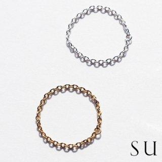 su スウ chain ring チェーンリング シルバー・ゴールド(6号 8号 10号)