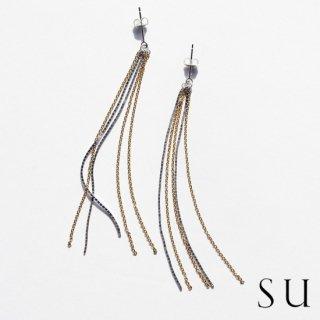 su スウ chain earrings チェーンピアス 【送料無料】