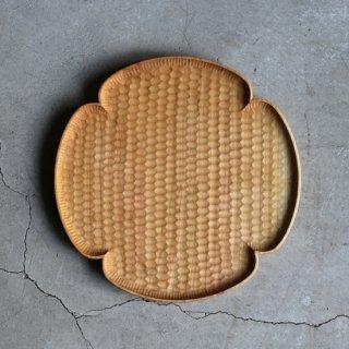 高塚和則 木工房玄 さくら 花形パン皿 はちのす 大 φ240mm
