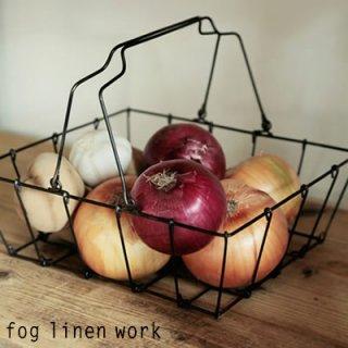 fog linen work(フォグリネンワーク) グロッサリーバスケット M ワイヤーバスケット 収納  IHA008M
