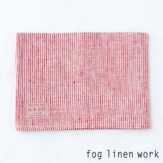 【3点までゆうパケット可】fog linen work(フォグリネンワーク) リネンキッチンクロス レッドシアサッカー/ランチョンマット キッチンタオル LKC001-SSRS