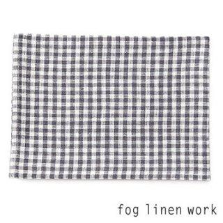 【3点までゆうパケット可】fog linen work(フォグリネンワーク) リネンキッチンクロス GRAY WHITE CHECK グレーホワイトチェック/ランチョンマット キッチンタオル