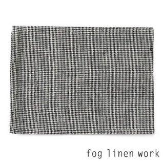【3点までゆうパケット可】fog linen work(フォグリネンワーク) リネンキッチンクロス black check Hound's Tooth 白黒千鳥/ランチョンマット キッチンタオル