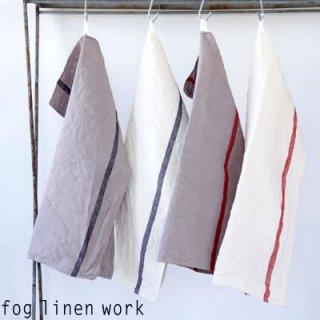【2点までゆうパケット可】fog linen work(フォグリネンワーク) リネン ライン入りキッチンクロス 厚地 全4色/ランチョンマット キッチンタオル LKC138