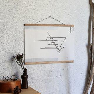Creamore Mill  クレモア ミル Poster Hanger medium 木製ポスターハンガー(W51cm)