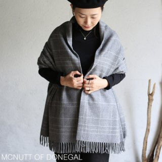 MCNUTT OF DONEGAL マクナット Supersoft Lambswool Blanket ラムズウールブランケット  / steel maze supersoft