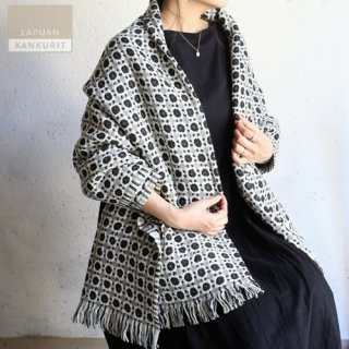 LAPUAN KANKURIT ラプアン・カンクリ ウールブランケット CORONA ブラック / コロナ【送料無料】