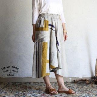 tamaki niime(タマキ ニイメ) 玉木新雌 only one chotan skirt CTN25 cotton100% オンリーワン チョタンスカート コットン100%