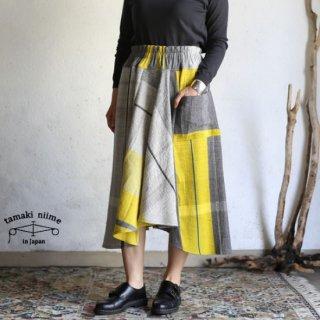 tamaki niime(タマキ ニイメ) 玉木新雌 only one chotan skirt wool CTN_W04 オンリーワン チョタンスカート ウール70% コットン30% 【送料無料】