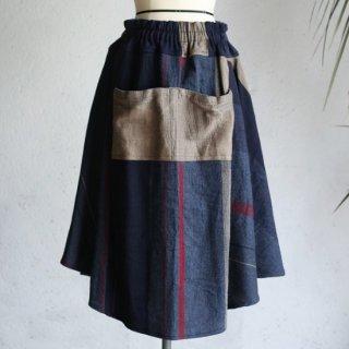 tamaki niime(タマキ ニイメ) 玉木新雌 only one chotan skirt wool CTN_W05 オンリーワン チョタンスカート ウール70% コットン30% 【送料無料】