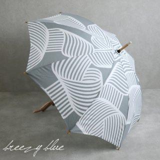 breezy blue ブリージーブルー バイカラー捺染パラソル 晴雨兼用 日傘  UV加工 長傘 シラタキ