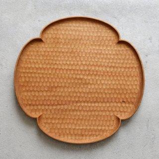 高塚和則 木工房玄 チェリー 花形パン皿 はちのす 特大 φ280mm