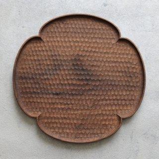 高塚和則 木工房玄 ウォールナット 花形パン皿 はちのす 特大 φ280mm