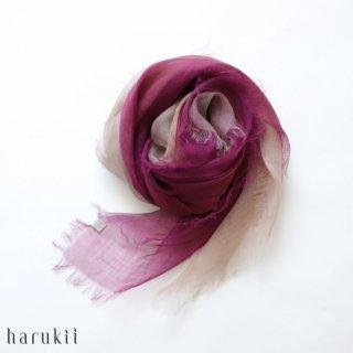 harukii ハルキ ぼかし染ラミー薄羽(うすば)ストール S 華紫(はなむらさき)