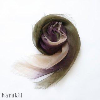 harukii ハルキ ぼかし染ラミー薄羽(うすば)ストール S 松風(まつかぜ)