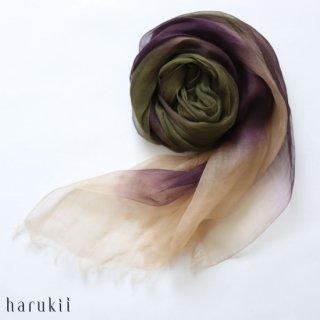 harukii ハルキ ぼかし染ラミー薄羽(うすば)ストール L 松風(まつかぜ)