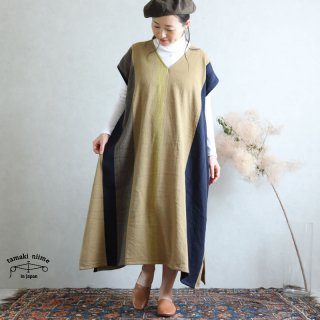 tamaki niime 玉木新雌 only one fuwa-T long V wool70% cotton30% FTLW09 / オンリーワン フワT ロング Vネック ウール