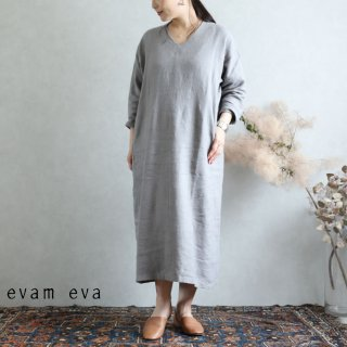 evam eva(エヴァム エヴァ) vie ライジングリネン ワンピース グレー / raising linen one-piece  gray V193T917