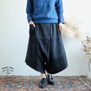 【再入荷】tamaki niime(タマキ ニイメ) 玉木新雌 きぶんシリーズ 9月 ダックス black cotton 100%  厚地ベーシック