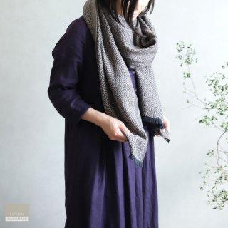 LAPUAN KANKURIT ラプアン・カンクリ【2021AW新作】KOLI merino wool scarf  beige-black コリスカーフ