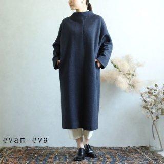 evam eva(エヴァム エヴァ) プレスウールロングコート ノースシー / press wool long coat north sea E193K044