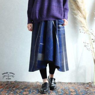 tamaki niime タマキ ニイメ 玉木新雌 only one chotan skirt wool CTN_W15 wool70% cotton30% チョタンスカート ウール
