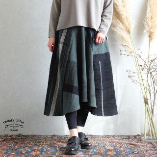 tamaki niime タマキ ニイメ 玉木新雌 only one chotan skirt wool CTN_W17 wool70% cotton30% チョタンスカート ウール