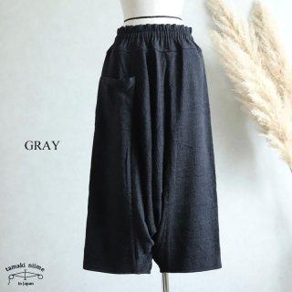 tamaki niime(タマキ ニイメ) 玉木新雌  きぶんシリーズ 11月 tarun pants LONG グレー wool70% cotton30% / タルンパンツ ウールベーシック