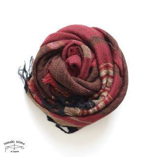 tamaki niime 玉木新雌 roots shawl wool middle RSM_W101/ ルーツショール ウール70% コットン30% ミドルサイズ
