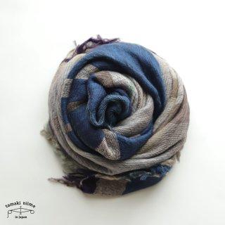 tamaki niime 玉木新雌 roots shawl wool middle RSM_W116/ ルーツショール ウール70% コットン30% ミドルサイズ