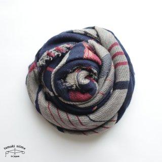 tamaki niime 玉木新雌 roots shawl wool middle RSM_W114/ ルーツショール ウール70% コットン30% ミドルサイズ