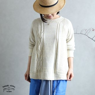tamaki niime(タマキ ニイメ) 玉木新雌 only one PO knit てく teku_05 ポニット コットン100%