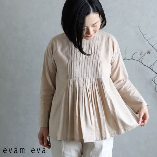 evam eva(エヴァム エヴァ)  ファインプリーツプルオーバー / fine pleats pullover ocre(16) E201T073