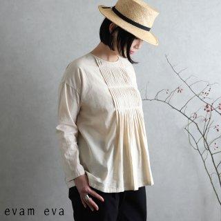 evam eva(エヴァム エヴァ) ファインプリーツプルオーバー / fine pleats pullover ecru(11) E201T073